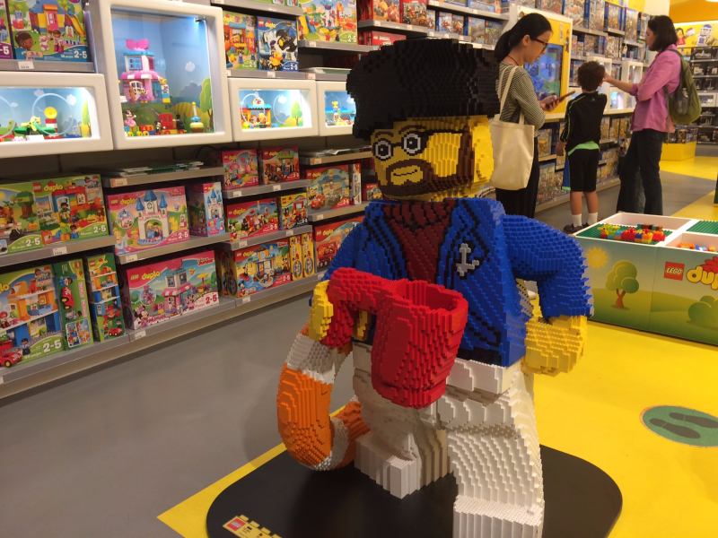 front of lego store